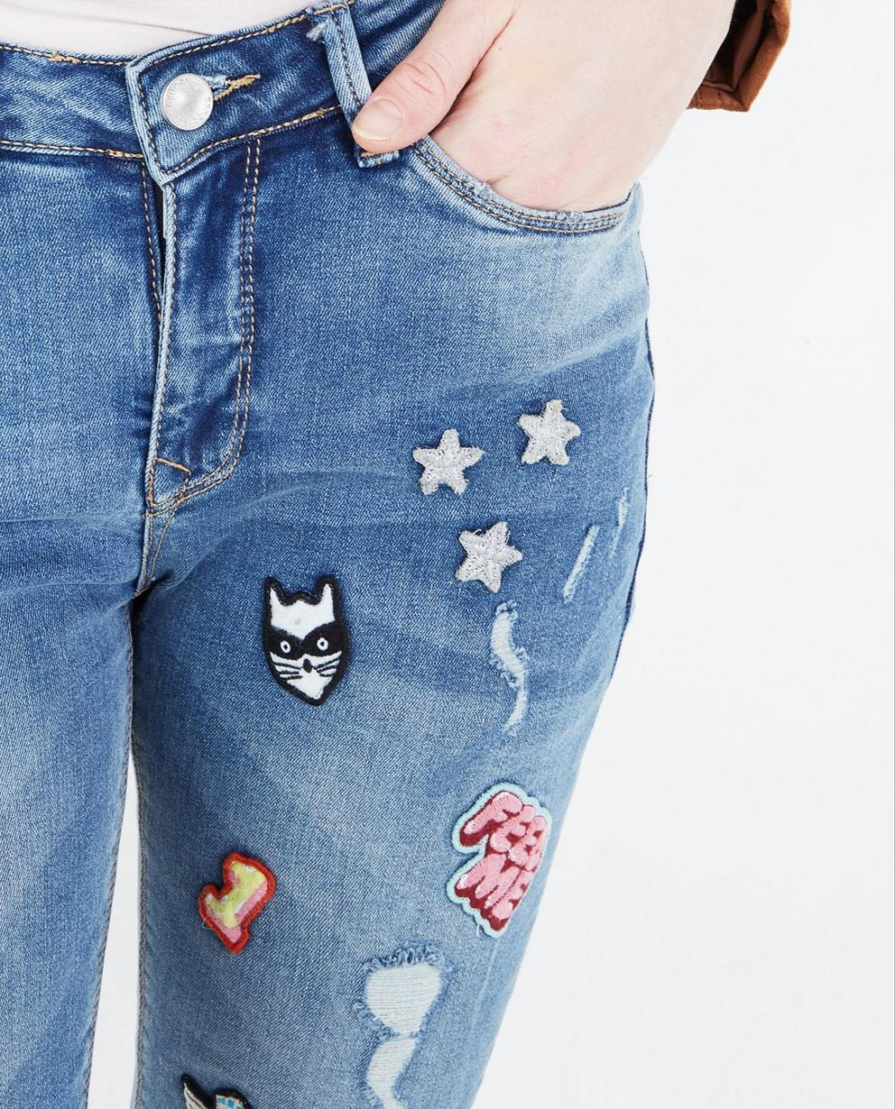 Jeans - BLM - Skinny jeans met patches
